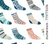winter vector seamless pattern... | Shutterstock .eps vector #775773106