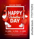 valentines day flyer  14... | Shutterstock .eps vector #775773292