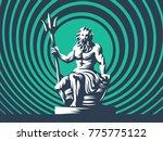 Statue Of Poseidon Or Neptune...