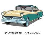 meteor 1955 retro vintage... | Shutterstock .eps vector #775786438