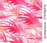 trendy tropical watercolour... | Shutterstock . vector #775786576