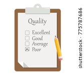 quality check clipboard flat... | Shutterstock .eps vector #775787686