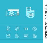 money payment icons set with... | Shutterstock . vector #775788316