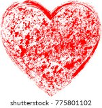 textured hearts . red grunge... | Shutterstock .eps vector #775801102