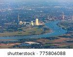 rhine river bend in duisburg... | Shutterstock . vector #775806088