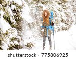 woman in winter clothes having... | Shutterstock . vector #775806925