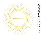 sun raster illustration with... | Shutterstock . vector #775816105