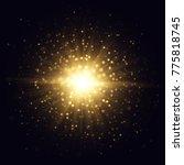 star flash raster illustration. ... | Shutterstock . vector #775818745