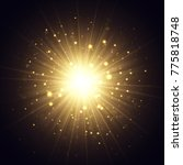 explosion raster illustration.... | Shutterstock . vector #775818748