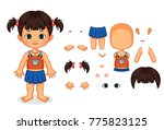 assemble the girl body parts... | Shutterstock .eps vector #775823125