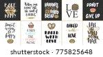 set of vector bakery lettering... | Shutterstock .eps vector #775825648