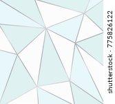 blue and white polygonal... | Shutterstock .eps vector #775826122