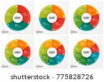 cycle chart infographic... | Shutterstock .eps vector #775828726