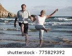 lovely senior mature couple on... | Shutterstock . vector #775829392