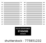 police mugshot. police lineup... | Shutterstock . vector #775851232