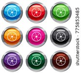round objective set icon... | Shutterstock . vector #775853485