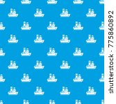 small ship pattern repeat... | Shutterstock . vector #775860892
