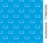 open book with bookmark pattern ... | Shutterstock . vector #775864282