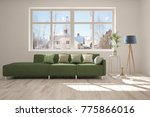 idea of white minimalist room... | Shutterstock . vector #775866016