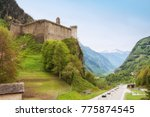 view of mesocco castle  the... | Shutterstock . vector #775874545