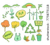 go green icons or elements idea ... | Shutterstock .eps vector #775875118