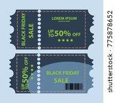 coupon sale vector design   Shutterstock .eps vector #775878652