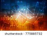 2d rendering stock market... | Shutterstock . vector #775885732