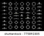 a huge rosette wicker border... | Shutterstock . vector #775892305