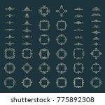 huge rosette wicker border... | Shutterstock . vector #775892308