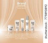 3d realistic cosmetic bottle... | Shutterstock .eps vector #775893892