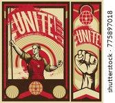 poster revolution. propaganda... | Shutterstock .eps vector #775897018