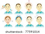 facial expression | Shutterstock .eps vector #77591014