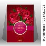 wedding invitation  valentine... | Shutterstock .eps vector #775921726