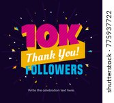 10k followers card banner... | Shutterstock .eps vector #775937722