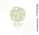 vector organic emblem. can be... | Shutterstock .eps vector #775942282