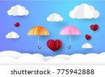 valentine day  beautiful... | Shutterstock .eps vector #775942888