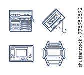 retro wave icon set | Shutterstock .eps vector #775953592