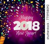 happy new year 2018. vectorial ... | Shutterstock .eps vector #775958092