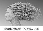 pixelated head of beautiful... | Shutterstock . vector #775967218