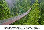 areial view of capilano suspension bridge vancouver canada