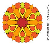 the colored mandala. a... | Shutterstock .eps vector #775986742