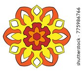 the colored mandala. a... | Shutterstock .eps vector #775986766