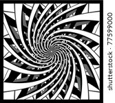 Black And White Spiral Design...