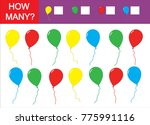 count how many balloons ... | Shutterstock .eps vector #775991116