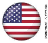 Icon Representing Round Button...