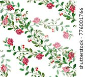 watercolor cranberry on a white ...   Shutterstock . vector #776001766
