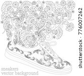sneakers with a pattern and... | Shutterstock .eps vector #776007262