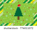 christmas background with hat...