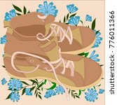 illustration with shoes and... | Shutterstock .eps vector #776011366