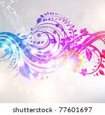 floral background design with...